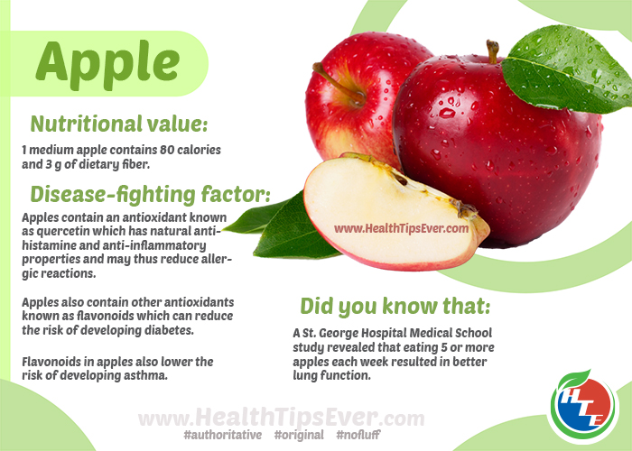 Apple Fruit Health Benefits With Infographics Health Tips Ever Magazine