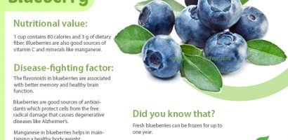 Blueberries – Health Benefits with Infographics