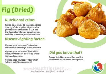 Health Benefits of Dried Fig with Infographics