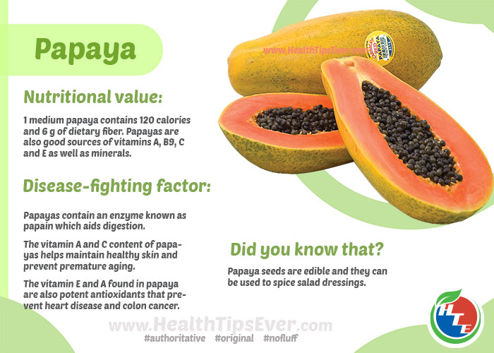 Papaya Health Benefits With Infographics Health Tips Ever Magazine