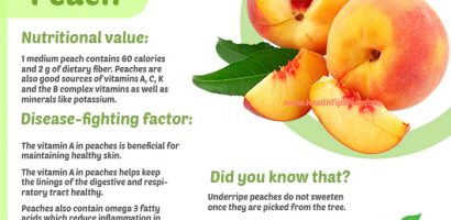 Peach Health Benefits with Infographics