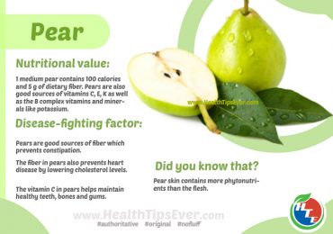 Pear Health Benefits with Infographics