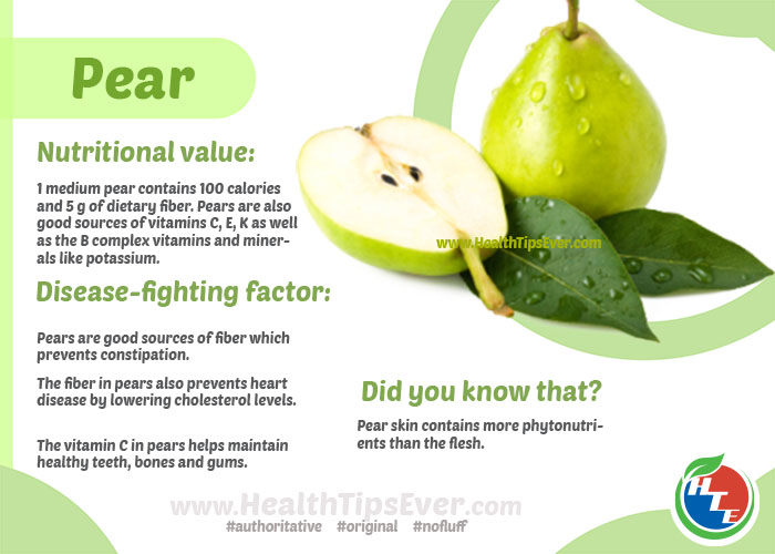 pear fruit is fruit and fibre healthy
