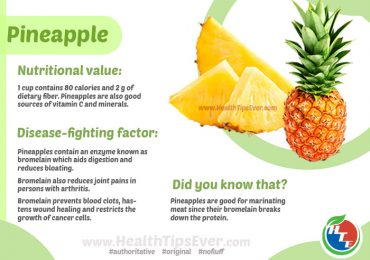 Health Benefits of Pineapples with Infographics