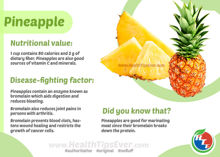 Health benefits of Pineapple with Infographics