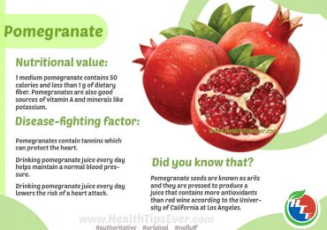 Pomegranate Health Benefits with Infographics