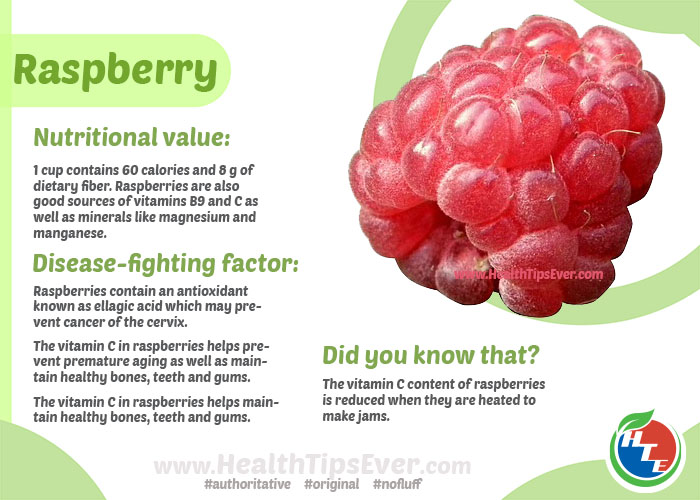 Health benefits of raspberry with infographics