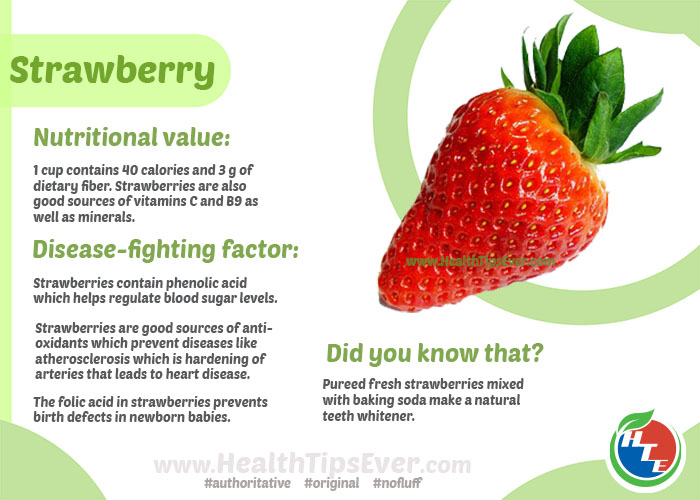 Health benefits of strawberry with infographics