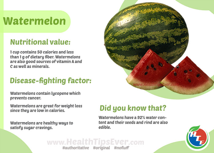 Health Benefits of Watermelon with Infographics
