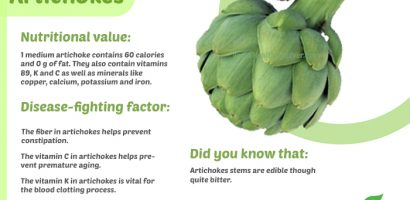Artichoke Health Benefits with Infographics