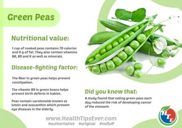 Disease fighting factors of Green Peas