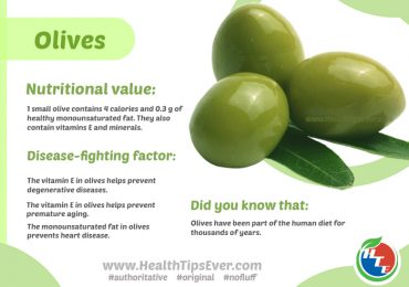 Nutritional value and Health Benefits of Olives